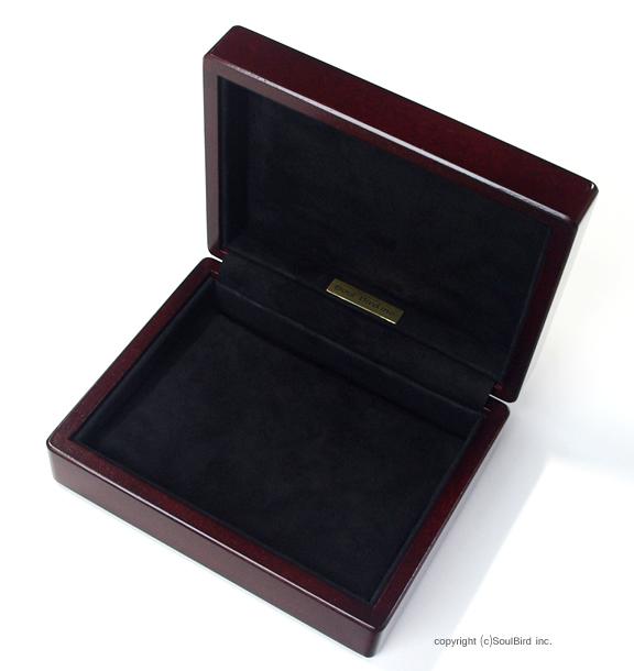ホンジュラス産マホガニー材 1個用懐中時計ケース