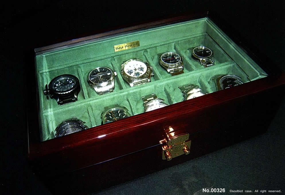 高級時計ケース 10本用ケース