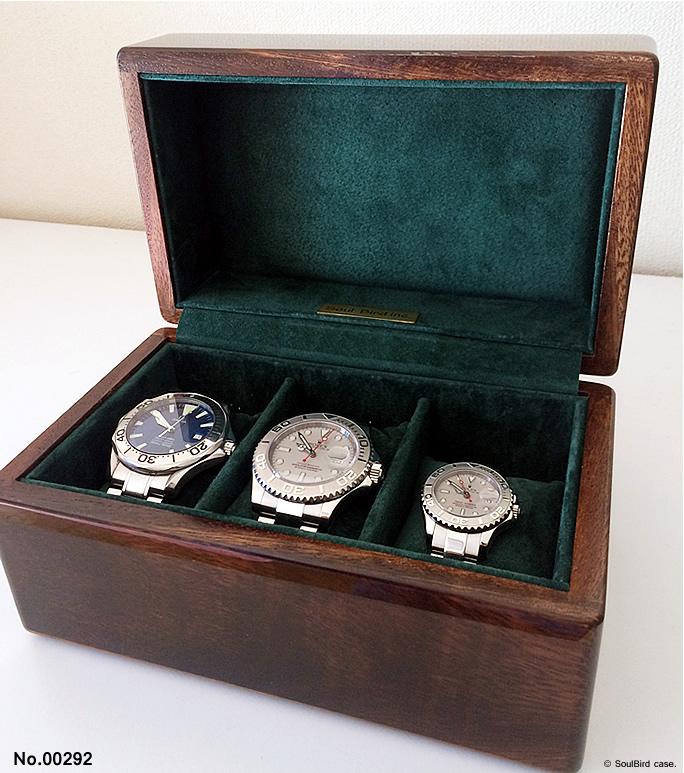 高級時計ケース 3本用ケース