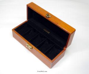 時計ケース 5本用 メイプル材 ピグスエードレザー