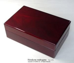 No.1174 10本用 ホンジュラスマホガニー時計ケース ¥161000