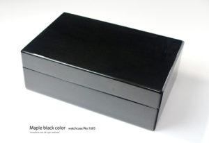 No.1685 10本用 メイプルエボニーカラー時計ケース ¥50500
