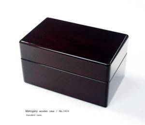 No.3404 3本用 ホンジュラスマホガニー時計ケース ¥82000