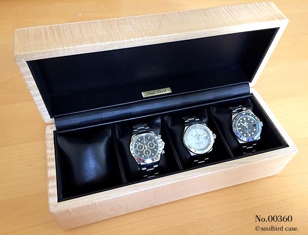高級時計ケース 4本仕様