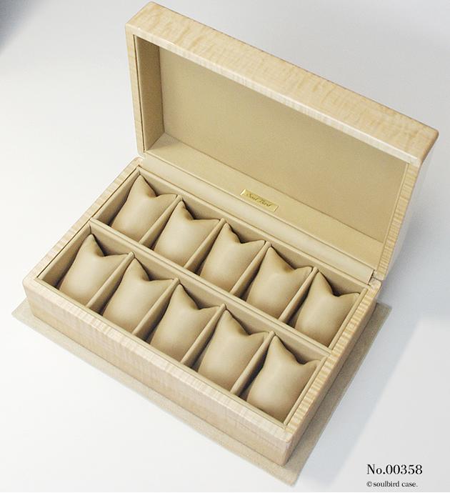 トチ材10本用時計ケース