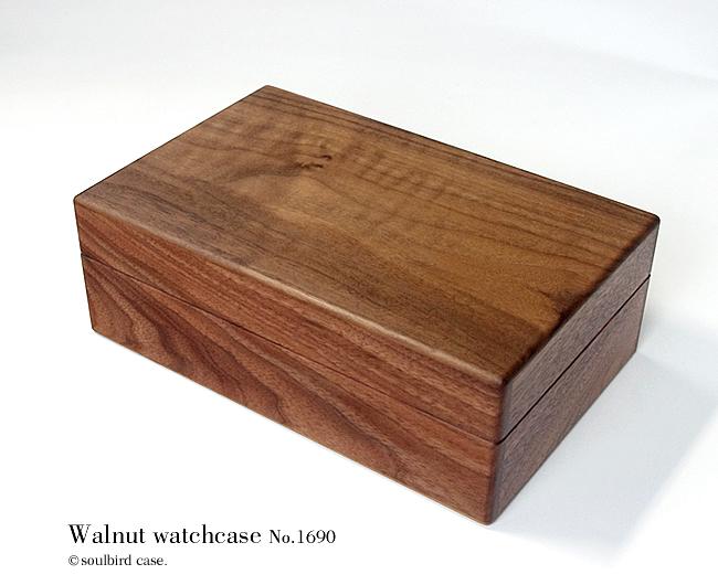前面 ウォールナット材 高級時計ケース 10本用