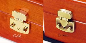イタリア製LOCK 金色とブラウン