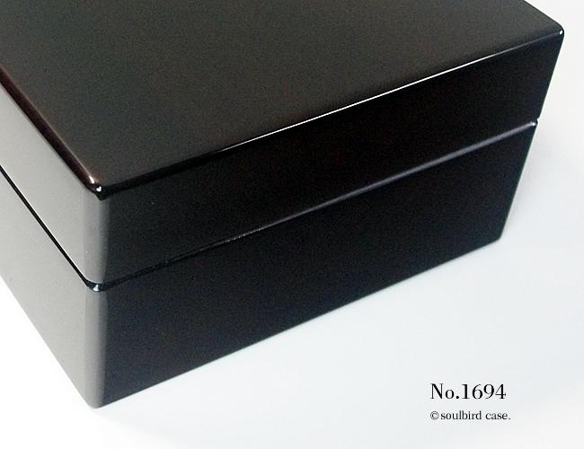 右面 No.1694 ホンジュラス産マホガニー材 10本用 時計ケース