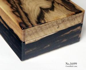 No.1699 右面 黒柿材10本用時計ケース