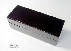 No.5834 ホンジュラス産マホガニー材 5本用 時計ケース