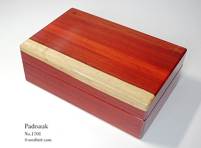 前面 No.1701 パドゥク材 10本用時計ケース