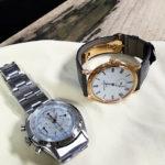 黒柿材と腕時計