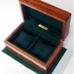 紫檀 3本用時計ケース 内装レザー 放牧ラムスエード グリーン