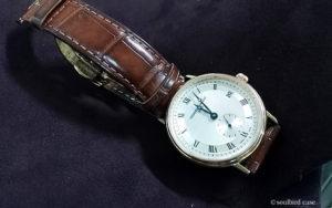 腕時計 放牧ラムレザースエード ボルドー