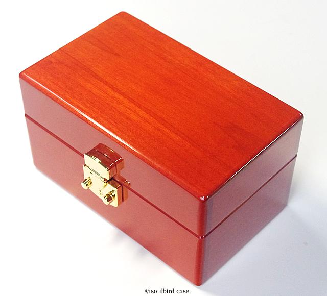 メイプル材3本用時計ケース 金色LOCK