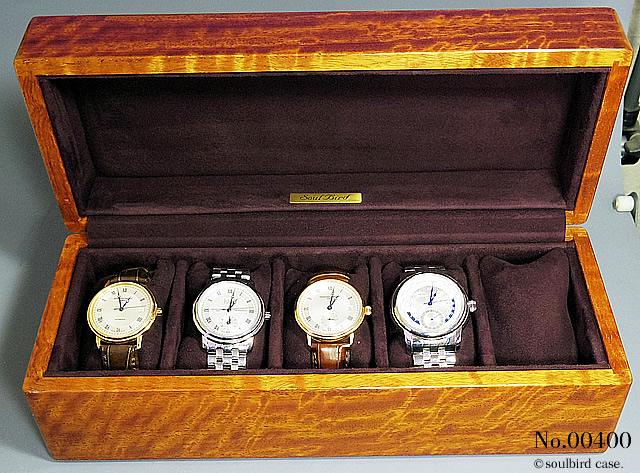 紫檀材時計ケース 5本用