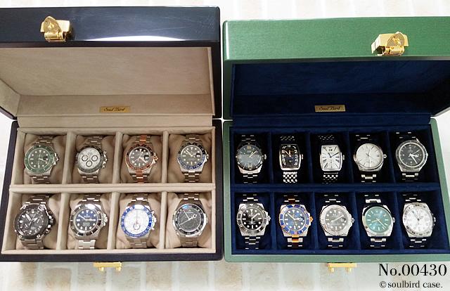 8本仕様と10本仕様 時計ケース