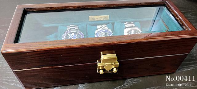 オーク材5本用時計ケース