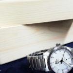 ヒノキ材時計ケース