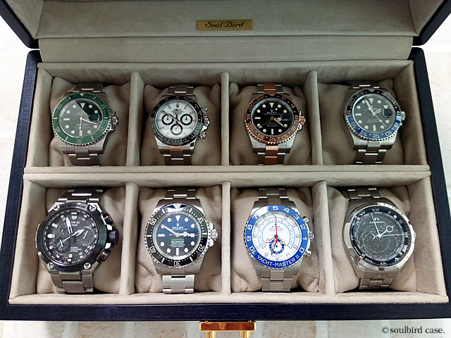 時計ケース ブルーグラデーション 8本仕様