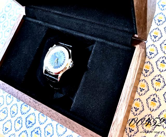 ウォールナット材3本用時計ケース