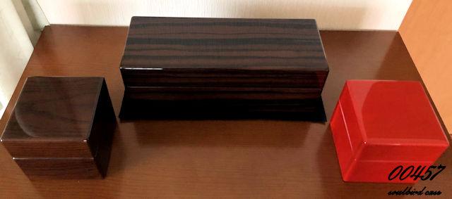 ウォッチコレクシション オーク材 メイプル材 縞黒檀材時計ケース