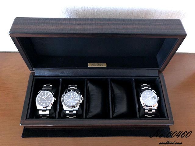 縞黒檀材時計ケース