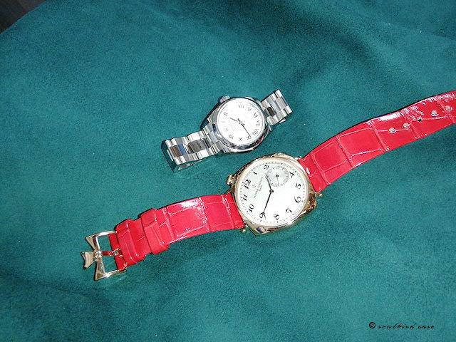 収納される腕時計