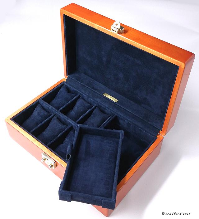 メイプル10本用内装加工腕時計6本+フリースペース+トレー