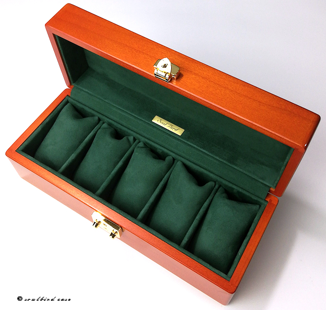 メイプル材5本用時計ケース