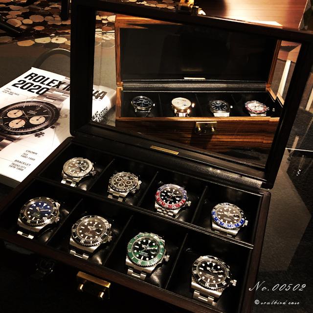 オーク材10本用時計ケース