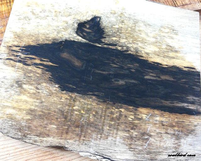黒柿材板材1