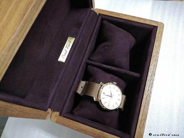 ミャンマーチーク2本仕様時計ケース