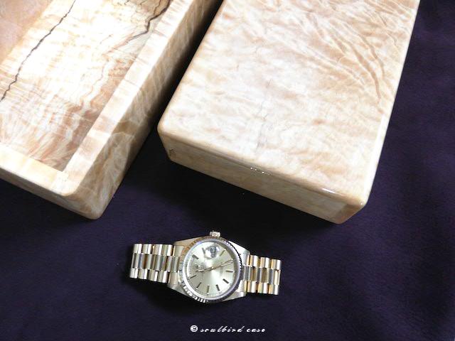 記念撮影 ロレックスとトチ3本用時計ケース