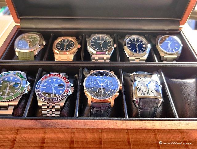 ハワイアンコア材10本用時計ケース