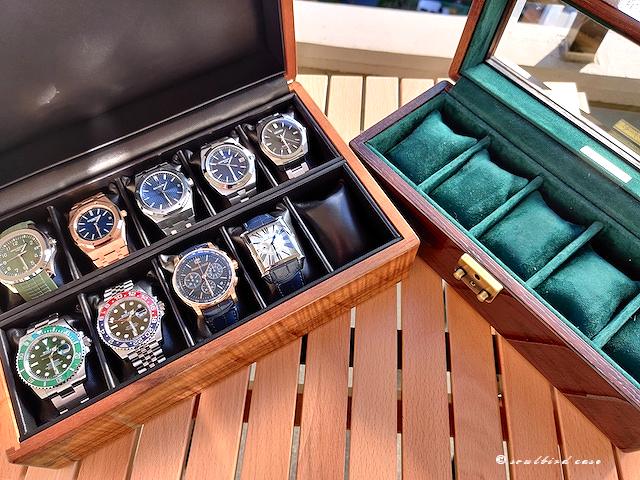 ハワイアンコア材10本用時計ケースとオーク材5本用時計ケース