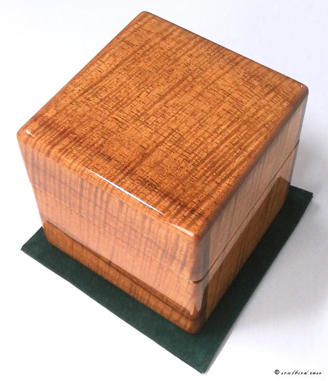 ハワイアンカーリーコア材1本用時計ケース