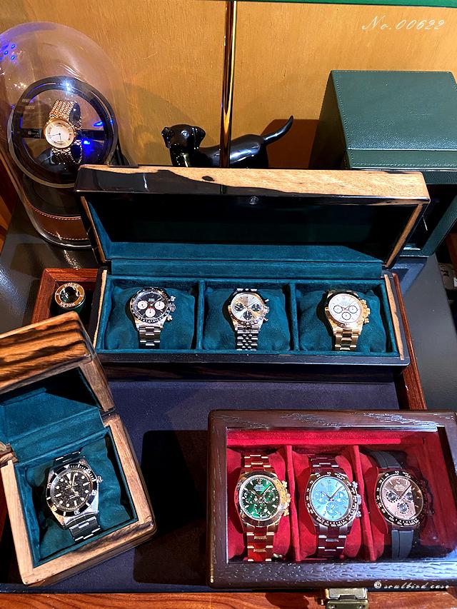 黒柿材時計ケース オーク材時計ケース