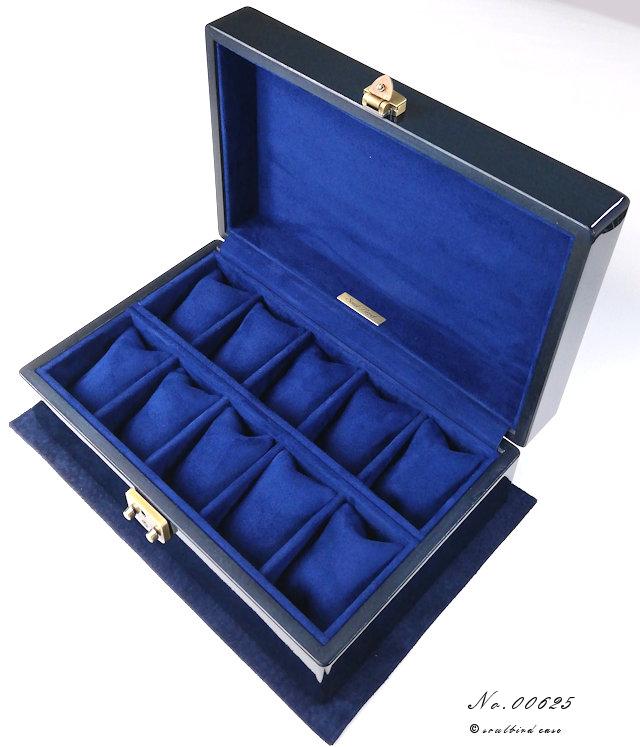 メイプル材ディープブルー時計ケース