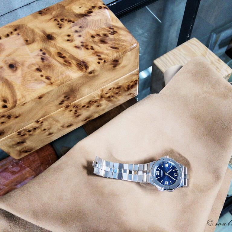 ニレケヤキ材 3本用時計ケース
