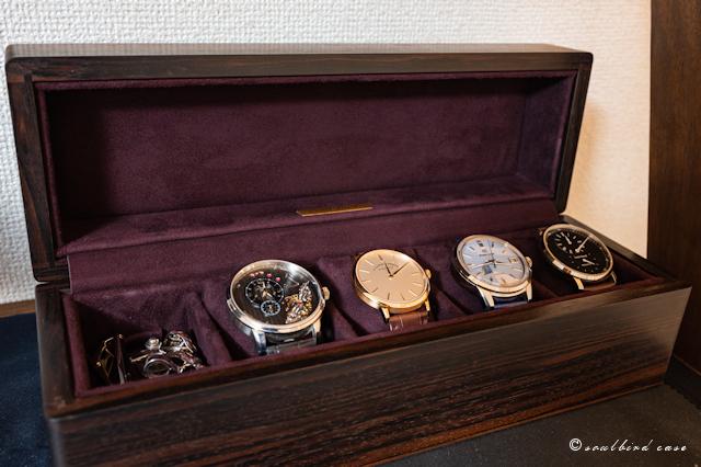 黒檀5本用時計ケース
