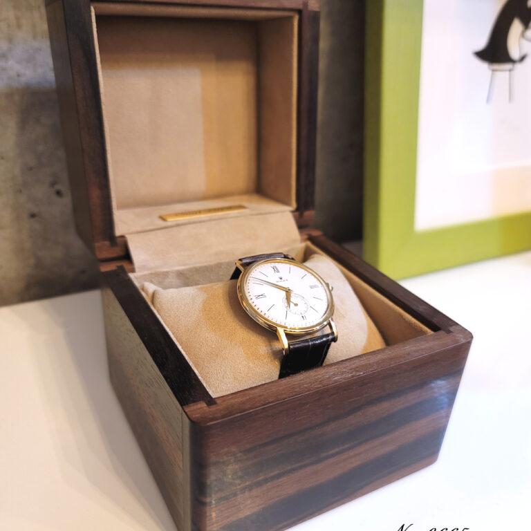縞黒檀材1本用時計ケース0665